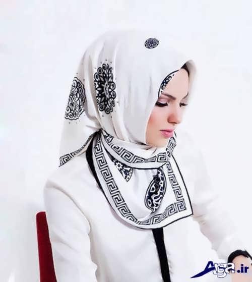مدل بستن روسری سفید
