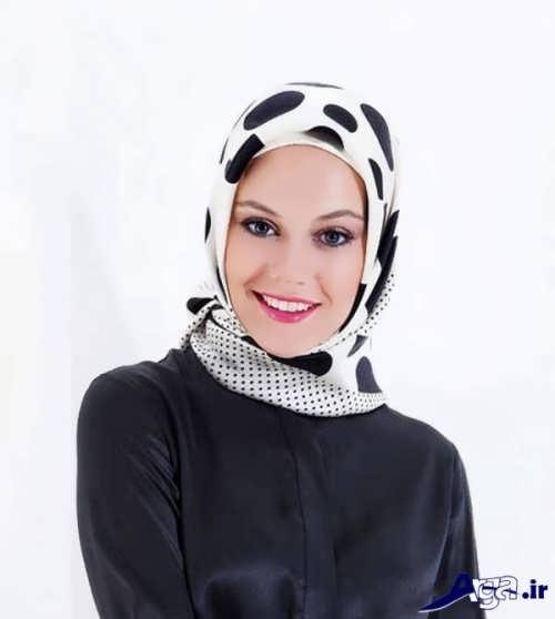 مدل روسری ساه و سفید