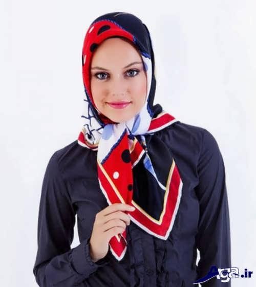 مدل بستن روسری زیبا با گره ساده