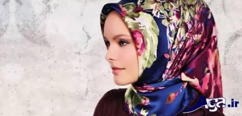 مدل بستن روسری دور گردن