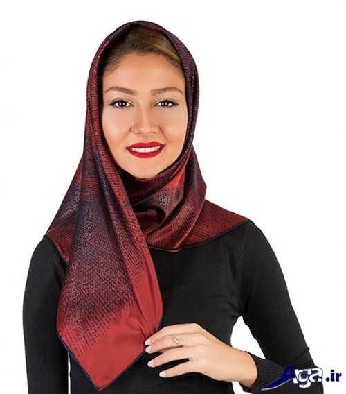 مدل بستن روسری زرشکی