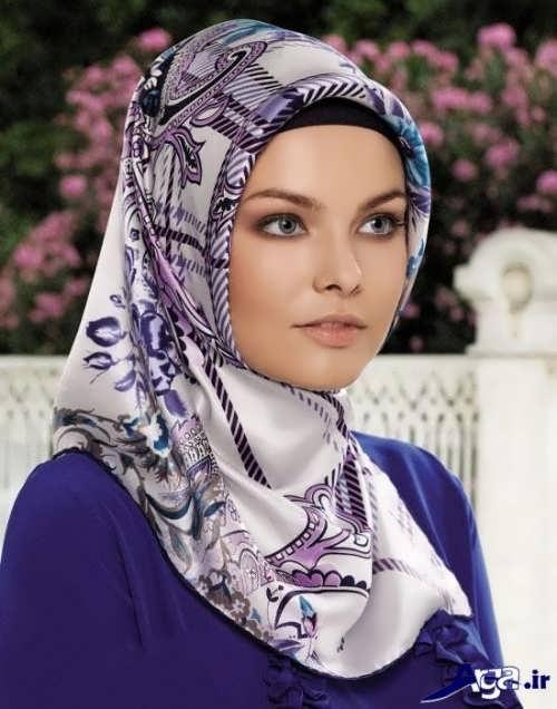 نحوه بستن روسری با گره ساده و زیبا
