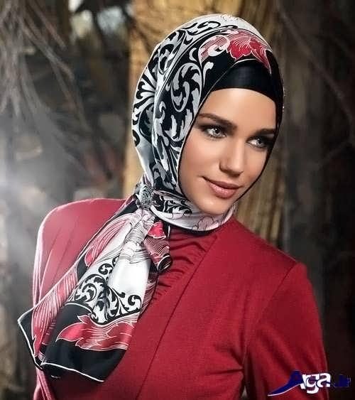 مدل بستن روسری ساده و زیبا
