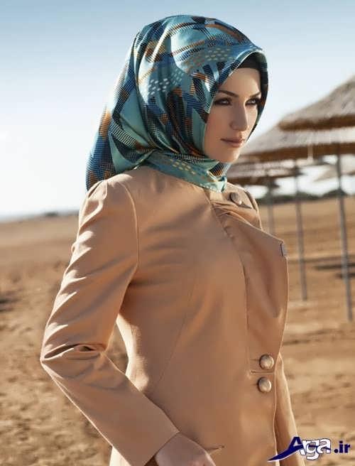 مدل بستن روسری باحجاب ساده