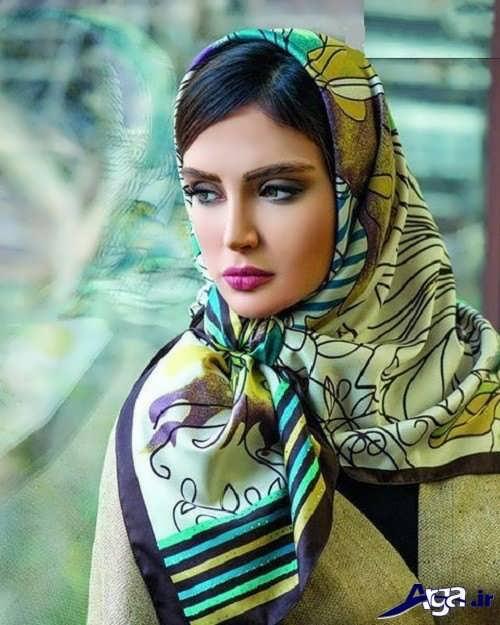 مدل بستن روسری با گره ساده