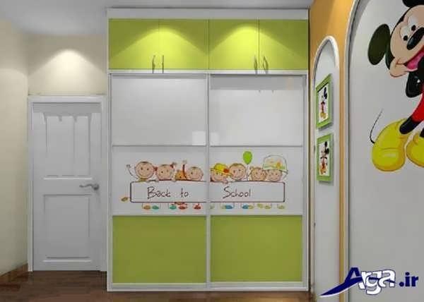 کمد دیواری دو رنگ برای اتاق بچه
