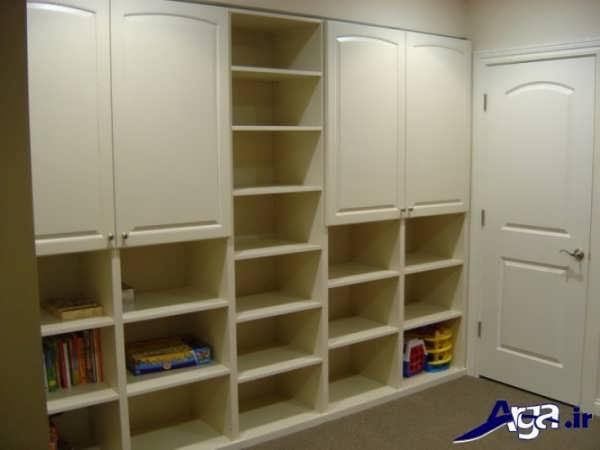 مدل کمد دیواری اتاق بچه با طرح ساده و زیبا
