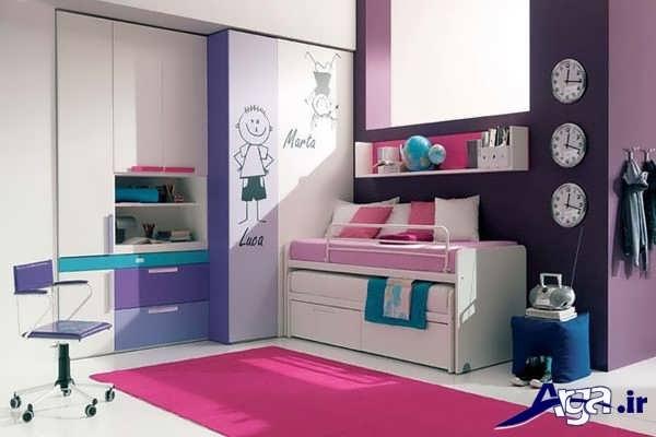 کمد دیواری اتاق کودک با طرح فانتزی