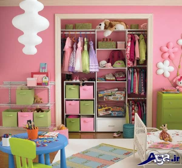 کمد دیواری اتاق بچه با طرح زیبا