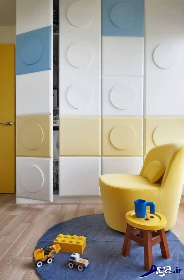 کمد دیواری مدرن و جدید اتاق کودک