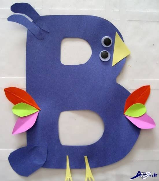کاردستی الفبا برای بچه ها