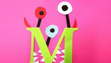 کاردستی حروف الفبا با کاغذ رنگی