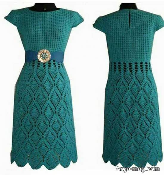 مدل لباس قلاب بافی بلند