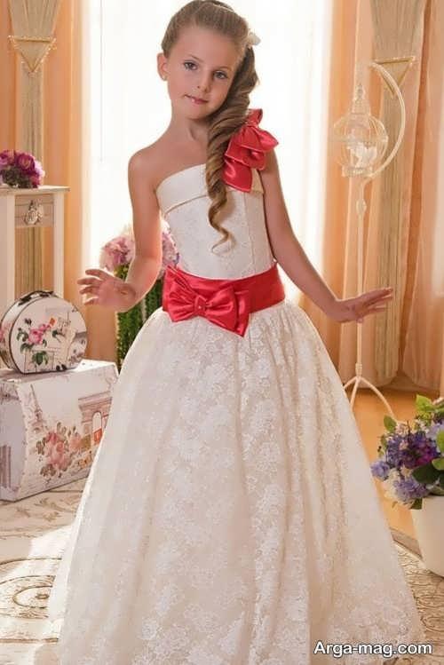 لباس مجلسی دکلته زیبا برای دختر بچه ها