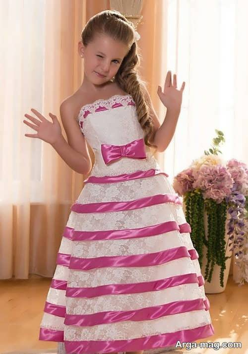 لباس مجلسی دکلته خاص برای دختر بچه ها