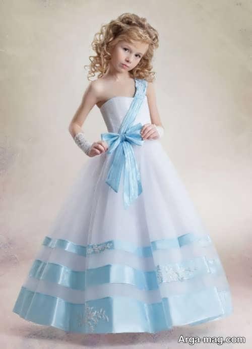 لباس مجلسی دکلته عالی برای دختر بچه ها