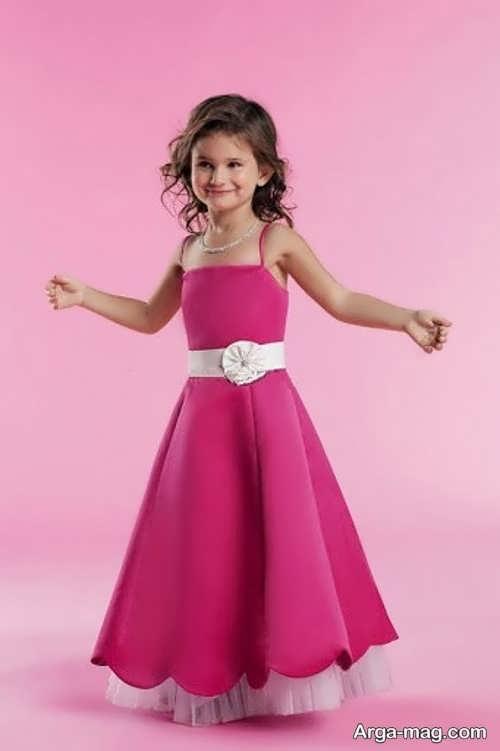 لباس مجلسی دکلته شیک برای دختر بچه ها