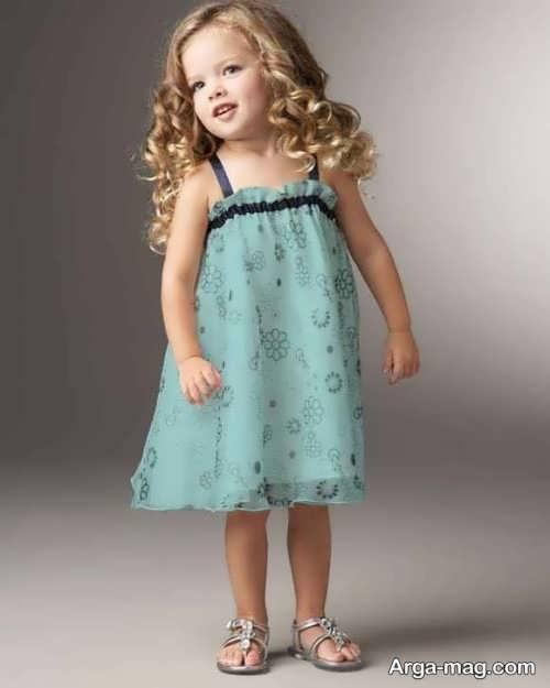لباس مجلسی دکلته جالب برای دختر بچه ها