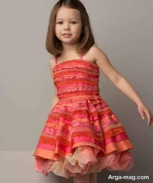 لباس مجلسی دکلته جذاب برای دختر بچه ها