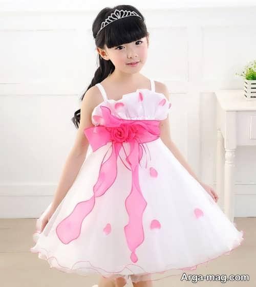 لباس مجلسی دکلته بی نظیر برای دختر بچه ها