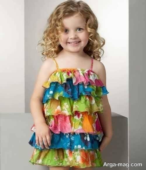 لباس مجلسی دکلته تماشایی برای دختر بچه ها