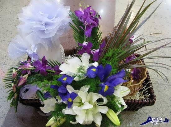 تزیین کادو با گل های طبیعی زیبا