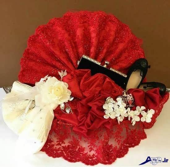 تزیین پارچه های بله برون برای عروس