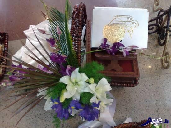 تزیین هدایا با گل طبیعی