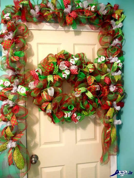 تزیین درب منزل با حلقه گل