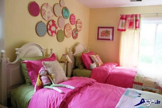 تزیین دیوار اتاق خواب با پارچه