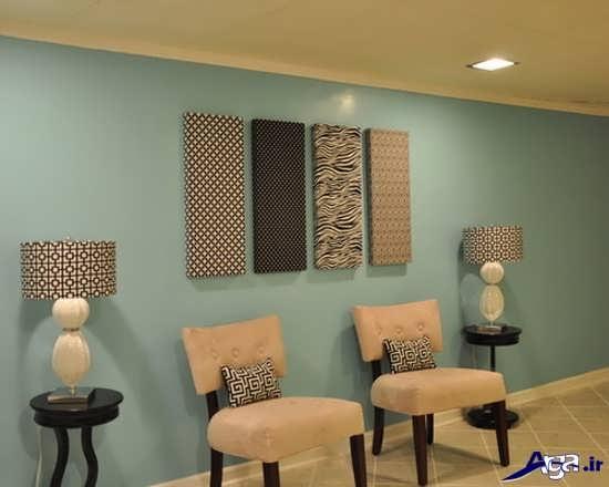 تزیین دیوار زیبا با وسایل ساده
