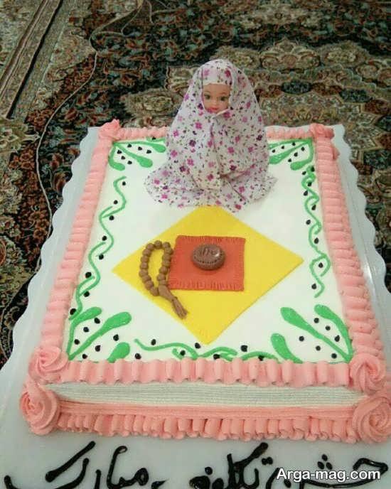 کیک زیبا برای جشن تکلیف دختران