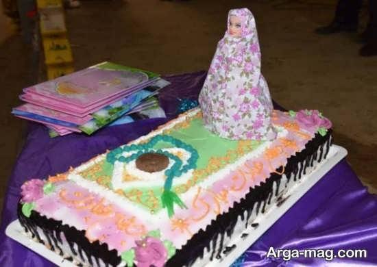 ایده تزیین کیک بندگی برای دختر خانم ها