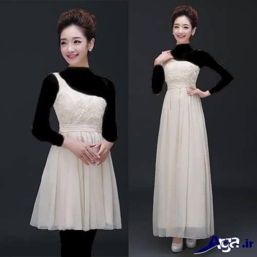 مدل لباس مجلسی برای خواهر عروس و داماد با طرح کوتاه و بلند
