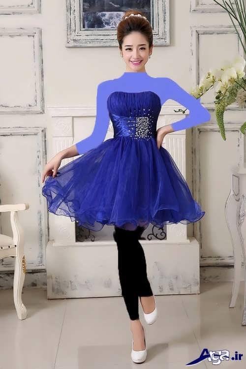 مدل لباس مجلسی پرنسسی کوتاه