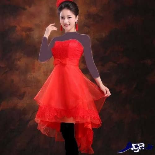 مدل لباس مجلسی قرمز و جدید