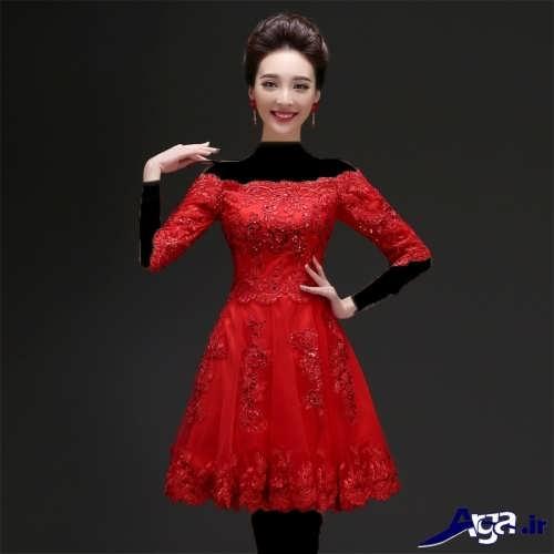 مدل لباس مجلسی کوتاه برای خواهر عروس