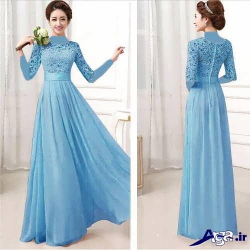 لباس مجلسی برای خواهر عروس با طرح بلند