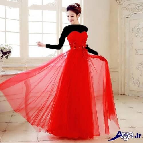 مدل لباس مجلسی قرمز برای خواهر عروس