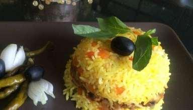 طرز تهیه پلو یونانی با مرغ