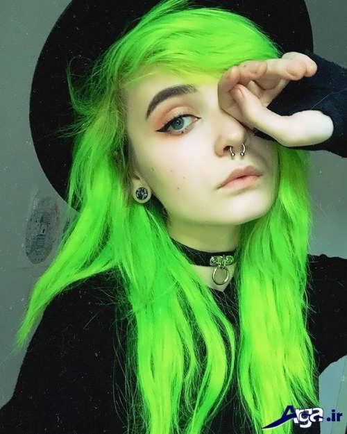 رنگ مو سبز روشن فانتزی