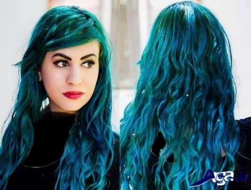 رنگ مو سبز آبی اقیانوسی
