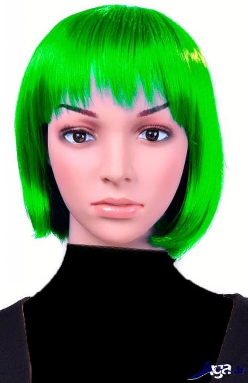 رنگ مو سبز زمردی زیبا