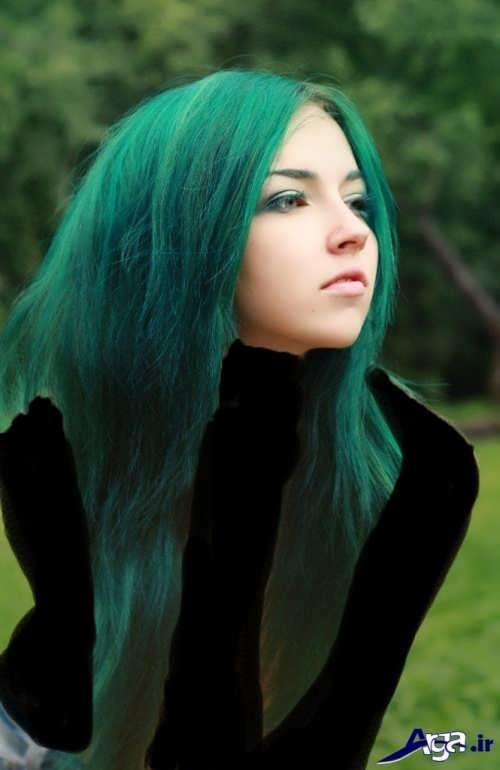 رنگ مو سبز زمردی زیبا و متفاوت