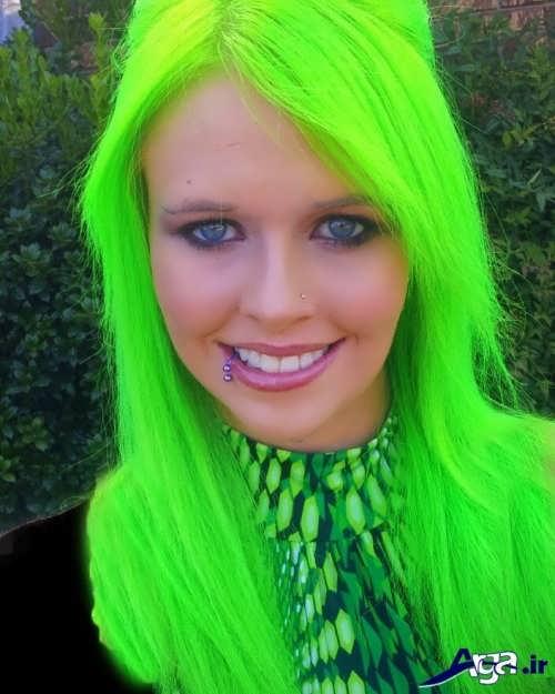 رنگ مو سبز روشن