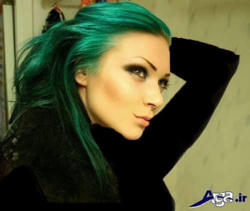 رنگ مو سبز زمردی شیک