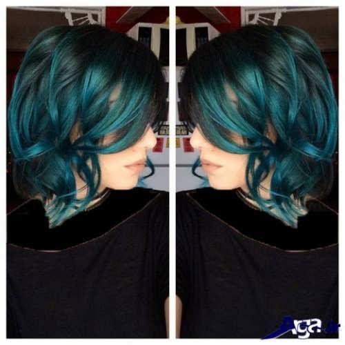 رنگ موی سبز و آبی