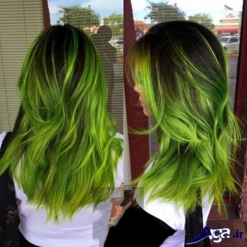 رنگ موی سبز زرد