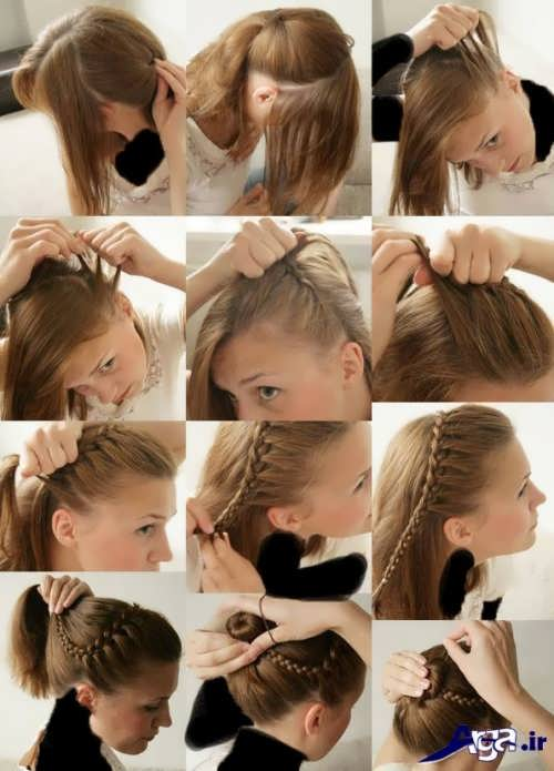 آموزش مرحله به مرحله بافت مو کنار سر