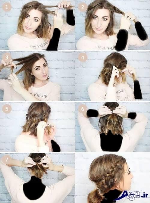 آموزش مرحله به مرحله بافت مو در کنار سر